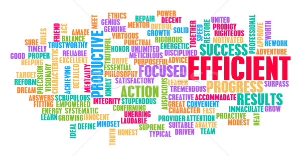 Efficient Word Cloud Concept Stock photo © kentoh
