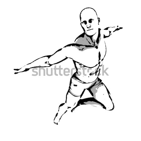 Comic Book Hero Pose Stock photo © kentoh