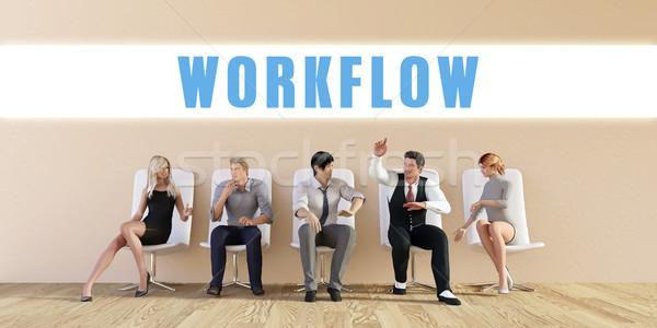 Negócio fluxo de trabalho grupo reunião homem fundo Foto stock © kentoh