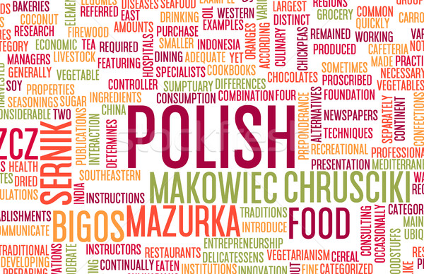 Polish Food Menu Stock photo © kentoh