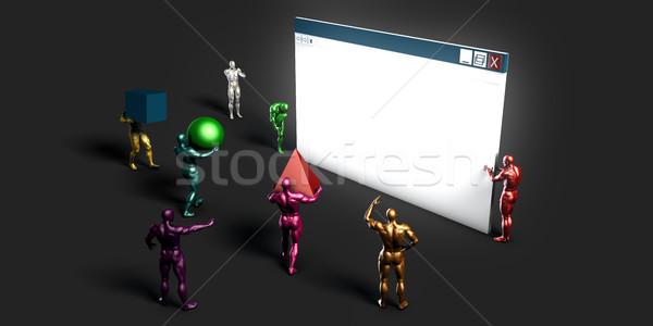 Web gelişme şirket gelecek Internet dizayn Stok fotoğraf © kentoh