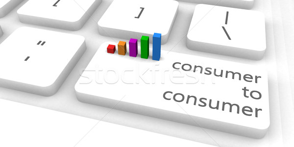 Consumidor teclado bar industria clave software Foto stock © kentoh