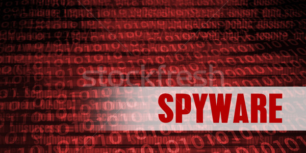 Spyware Sicherheit Warnung rot Technologie Stock foto © kentoh