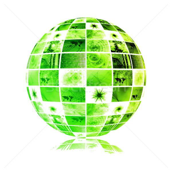 Telecommunicatie industrie globale netwerk wereldbol wereld Stockfoto © kentoh