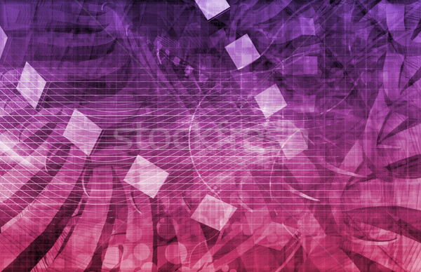 Digitale segnale tecnologia abstract pattern arte Foto d'archivio © kentoh