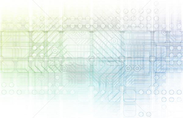 Intégré solutions web plate-forme internet croix Photo stock © kentoh