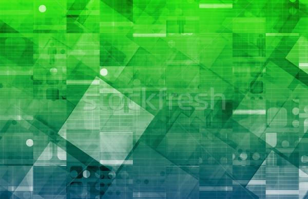 Internetowych technologia informacyjna sztuki przyszłości działalności Internetu Zdjęcia stock © kentoh