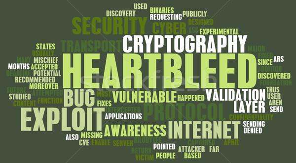 Tecnologia bug avvisare internet sicurezza web Foto d'archivio © kentoh