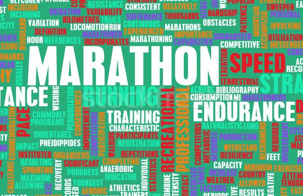 Maraton przypadku konkurencja streszczenie tłum sportowe Zdjęcia stock © kentoh