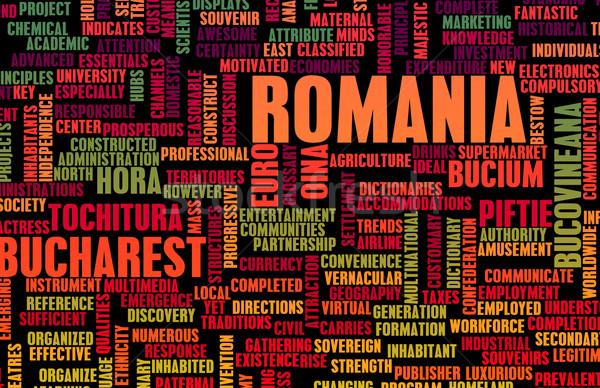 Rumania país resumen arte negocios fútbol Foto stock © kentoh