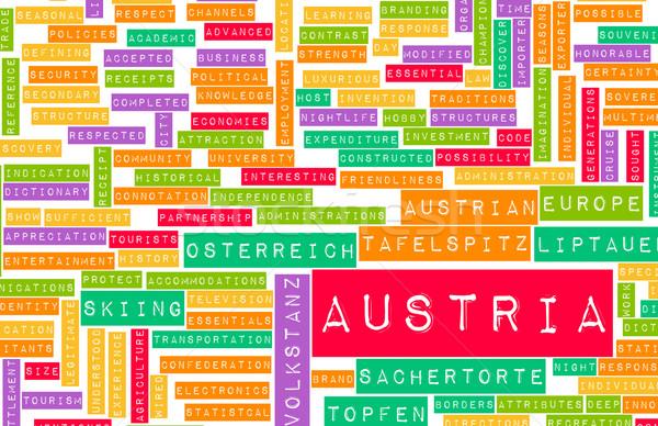 Áustria país abstrato arte negócio futebol Foto stock © kentoh