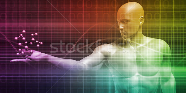 Scientist Holding a Molecule Stock photo © kentoh