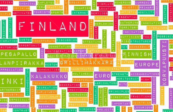 Finlandiya ülke soyut sanat iş futbol Stok fotoğraf © kentoh