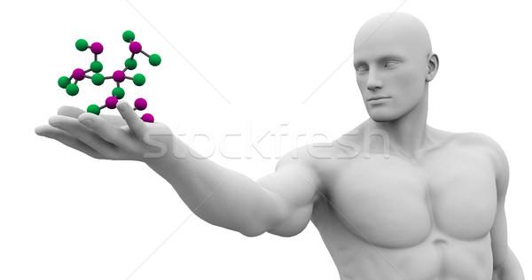 Tudomány technológia 3D genetikai atomi absztrakt Stock fotó © kentoh