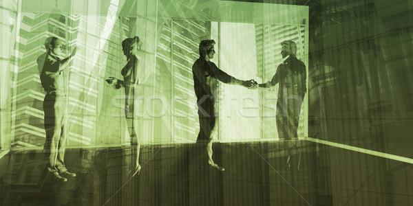Commercio internazionale governo business consulenza mani riunione Foto d'archivio © kentoh