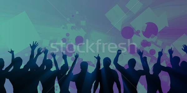 Música experiencia sonido ecualizador resumen fondo Foto stock © kentoh