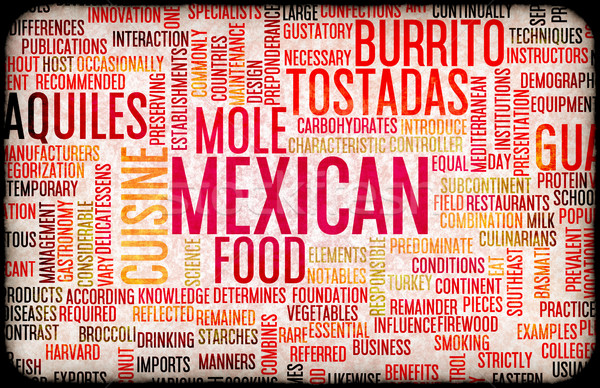 Mexicaans eten menu keuken lokaal gerechten voedsel Stockfoto © kentoh