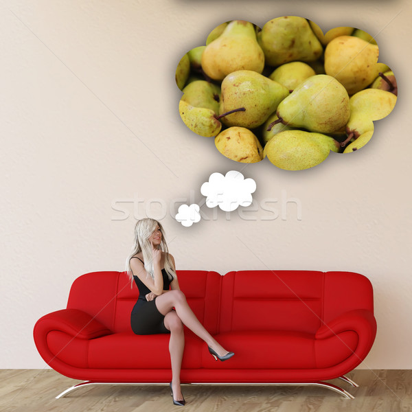 Woman Craving Pears Stock photo © kentoh