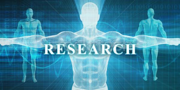 Kutatás orvosi specialitás mező részleg férfi Stock fotó © kentoh