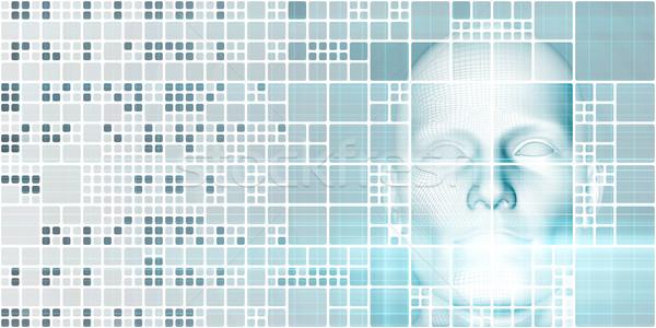 Gép tanul mesterséges intelligencia absztrakt háttér ipar Stock fotó © kentoh