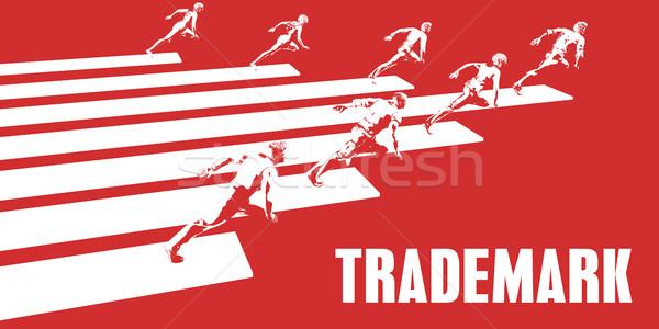 Védjegy üzletemberek fut út üzlet nők Stock fotó © kentoh