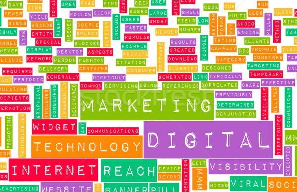Digital comercialización Internet otro los medios de comunicación resumen Foto stock © kentoh