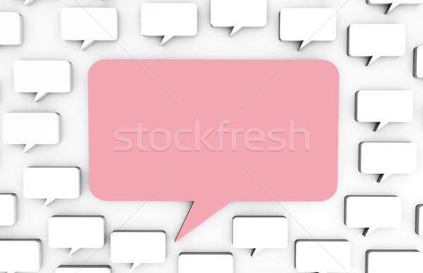 Közösségi média hirdetés weboldal figyelem művészet száj Stock fotó © kentoh
