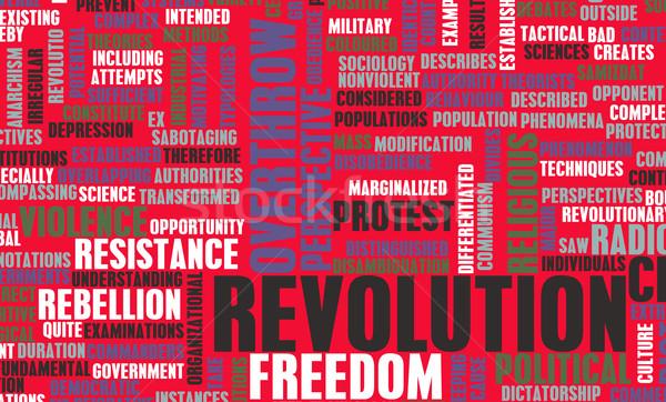 Revolução político técnico arte onda livre Foto stock © kentoh