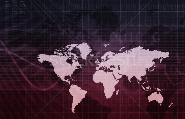 Digitale economia abstract business tecnologia sfondo Foto d'archivio © kentoh