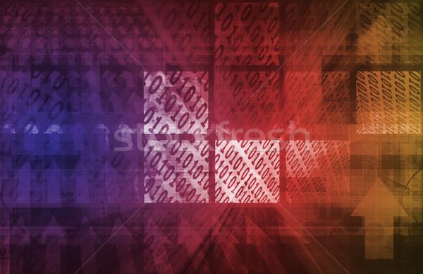 Digitális absztrakt adat média terv háttér Stock fotó © kentoh