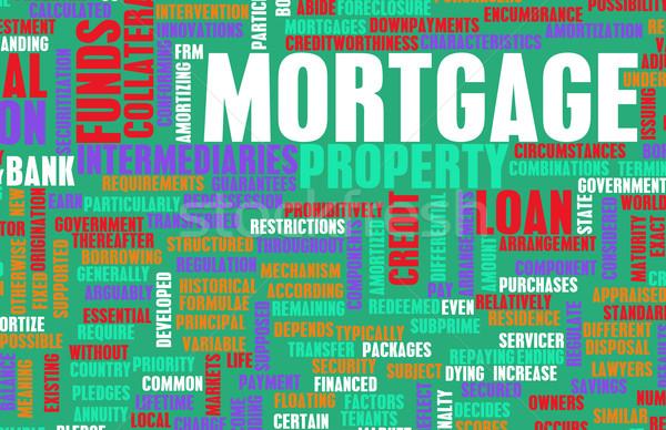 Hypothèque financière prêt à domicile maison banque informations Photo stock © kentoh