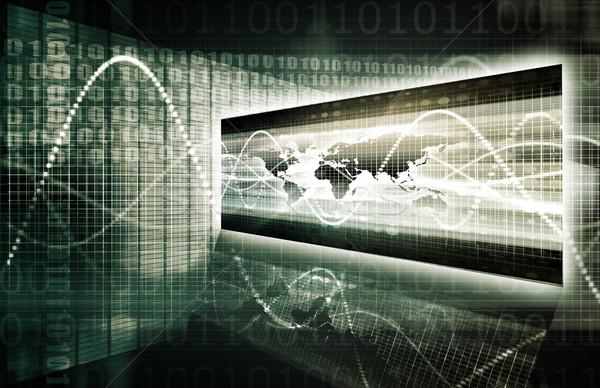электронной коммерции цифровой двоичный сделка данные бизнеса Сток-фото © kentoh