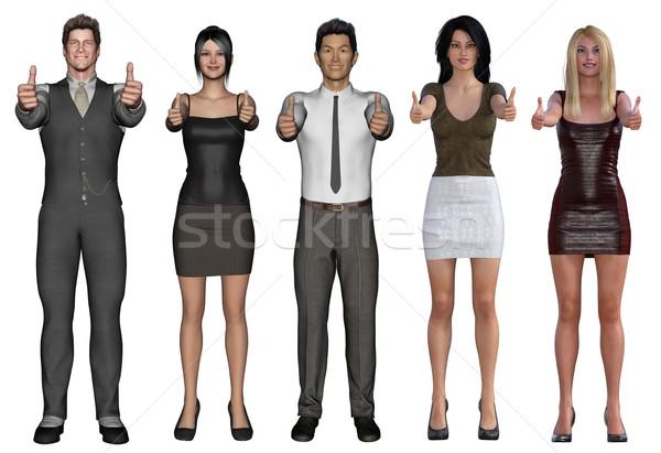 Pessoas de negócios sorridente branco negócio Foto stock © kentoh