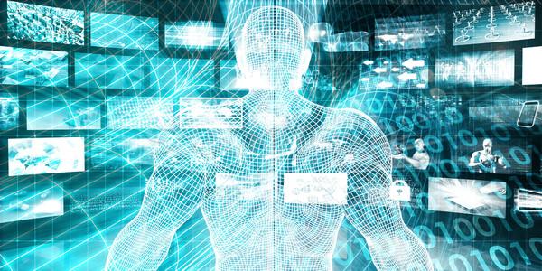 Stockfoto: Digitale · marketing · toegang · abstract