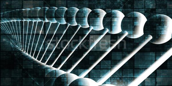 ДНК спираль аннотация науки генетический искусства Сток-фото © kentoh