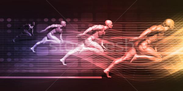 Integratie technologie futuristische kunst achtergrond Stockfoto © kentoh