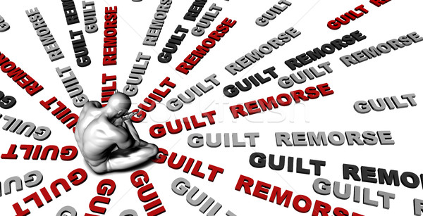 Guilt  remorse Stock photo © kentoh