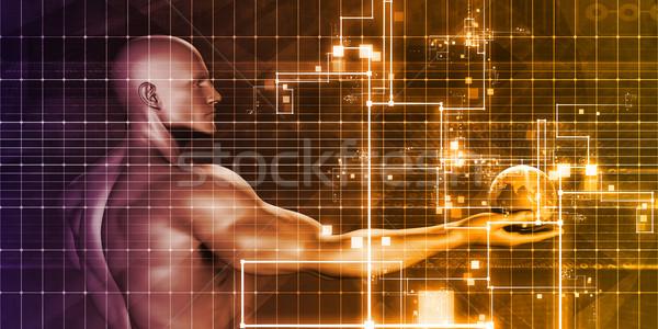 Digital comercialización red social diseno mercado información Foto stock © kentoh