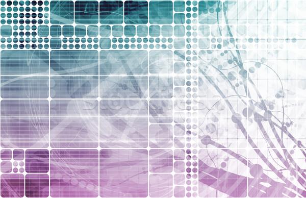 Stockfoto: Blauw · paars · medische · abstract · wetenschap · biologie