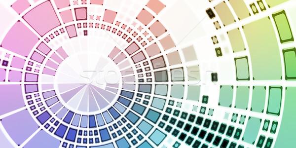 Technologia informacyjna danych sieci komputera tle oprogramowania Zdjęcia stock © kentoh
