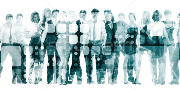 Eletrônico aprendizagem treinamento negócio reunião Foto stock © kentoh