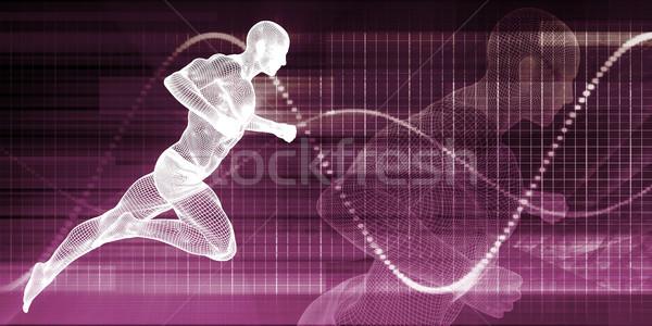 Adam çalışma grafik tel spor Stok fotoğraf © kentoh