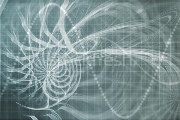 Idegen porta absztrakt futurisztikus adat hálózat Stock fotó © kentoh