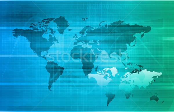 Telekommunikáció hálózat összes világ művészet technológia Stock fotó © kentoh