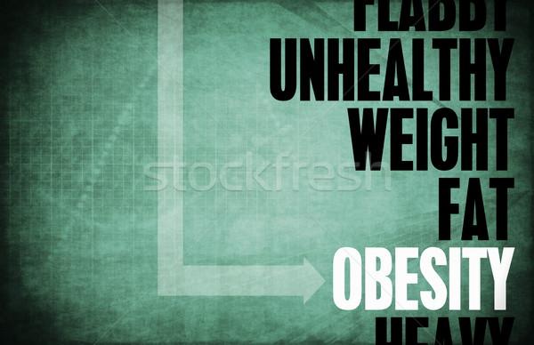Fettleibigkeit Kern Grundsätze Business Fitness blau Stock foto © kentoh