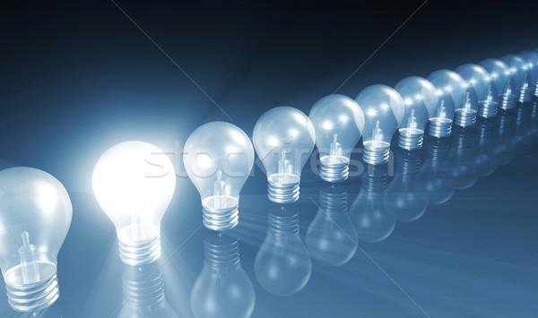 üzlet siker növekedés diagram villanykörte munka Stock fotó © kentoh
