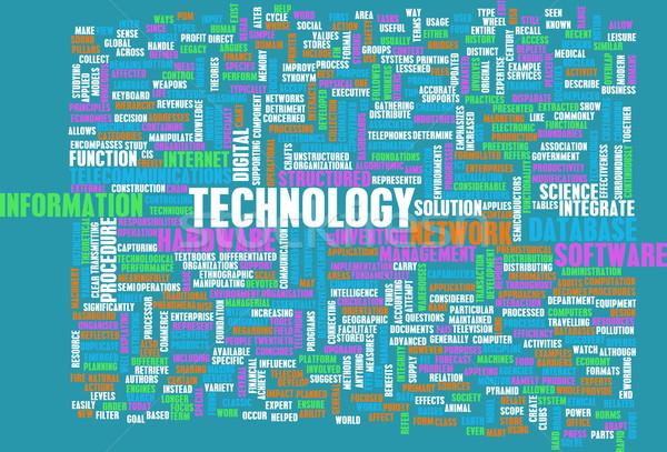 Stok fotoğraf: Teknoloji · kelime · bulutu · iş · sanat · Internet · ağ
