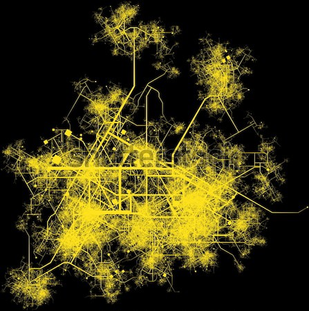Stad infrastructuur planning wegen gebouwen land Stockfoto © kentoh