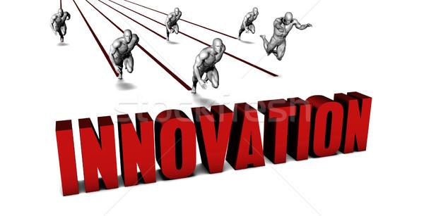 Jobb innováció üzleti csapat versenyzés üzletember fut Stock fotó © kentoh
