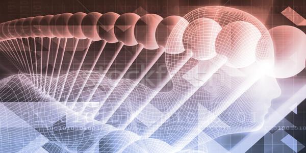 Gelecek bilim sanat soyut tanıtım Stok fotoğraf © kentoh